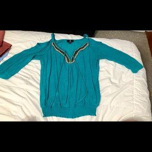 Dresses & Skirts - teal bedded shirt